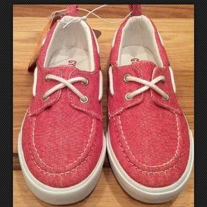 Gymboree Boys Red Denim Slip-On Walking Shoes